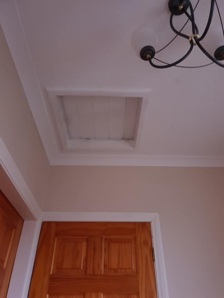 Before: Small old loft hatch