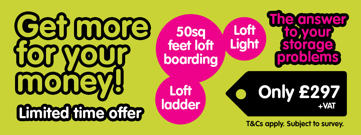 Leicester loft boarding offer £297