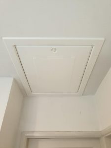 White loft hatch installed in Leicester