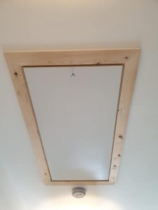 Extra large loft hatch with timber frame installed