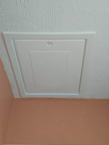 After: New loft hatch installed