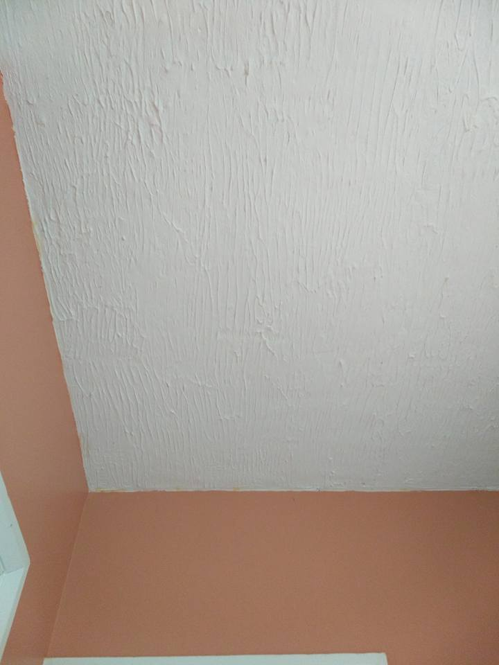 Before: Ceiling before loft hatch