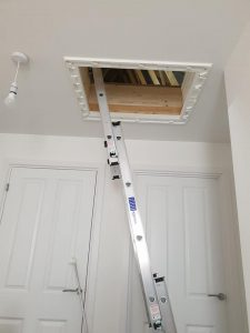 3 Part loft ladders installed
